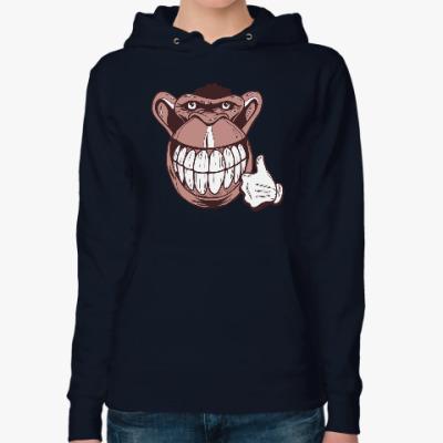 Женская толстовка худи Веселая обезьяна