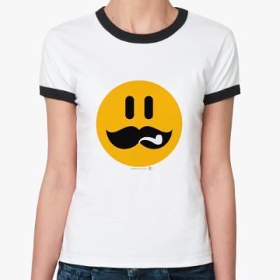 Женская футболка Ringer-T Сталин смаил.