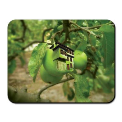 Коврик для мыши Яблочный домик