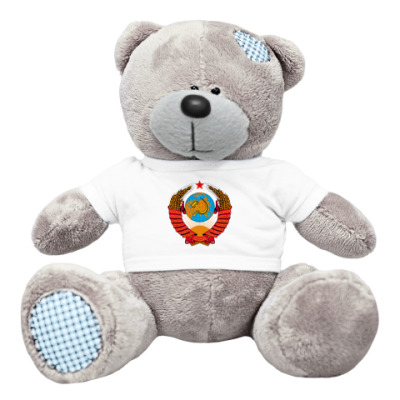 Плюшевый мишка Тедди Герб СССР