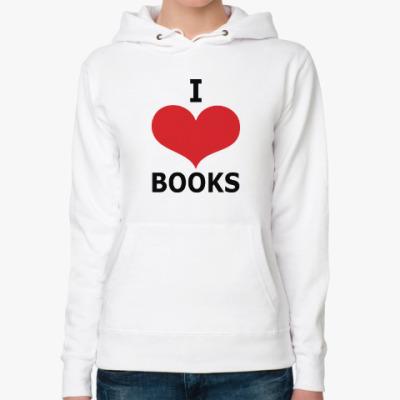 Женская толстовка худи I Love Books