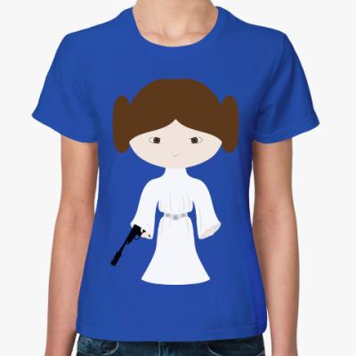 Женская футболка Принцесса Лея