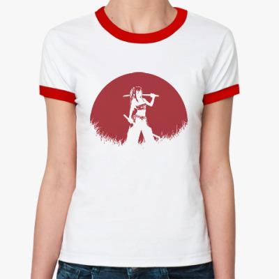 Женская футболка Ringer-T Аниме самурай