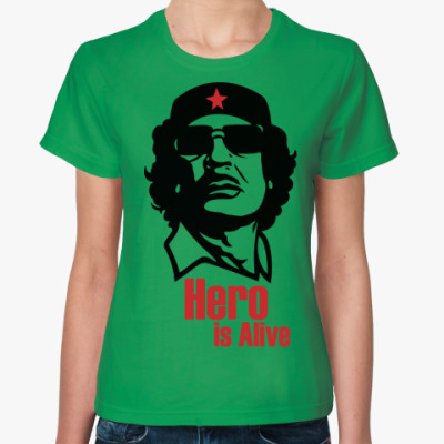 Женская футболка  Каддафи