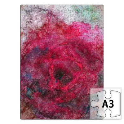 Пазл Алая роза