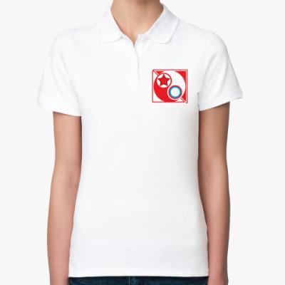 Женская рубашка поло  Ж Красные vs Белые