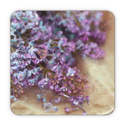 Костер (подставка под кружку) цветы сирени