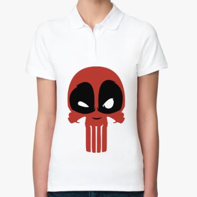 Женская рубашка поло Дэдпул Каратель / Deadpool