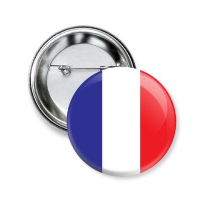 Значок 50мм Франция, France