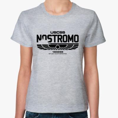 Женская футболка Чужой. Nostromo