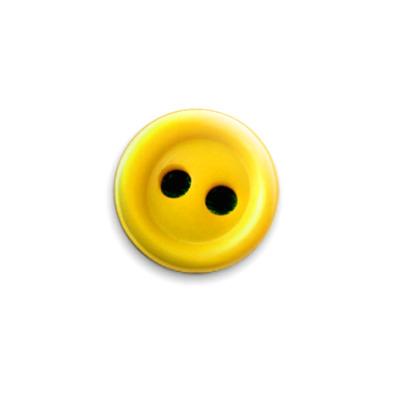 Значок 25мм Жёлтая пуговка
