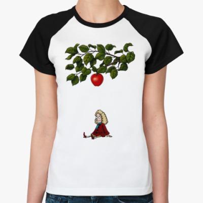 Женская футболка реглан Sir Isaac Newton