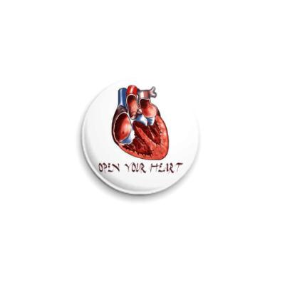 Значок 25мм Open your heart