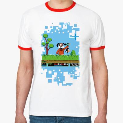 Футболка Ringer-T Pixel Duck Hanter