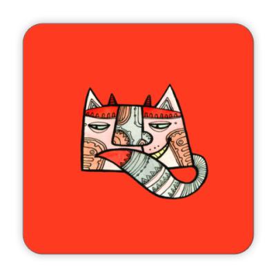 Костер (подставка под кружку) Кот Разбойник