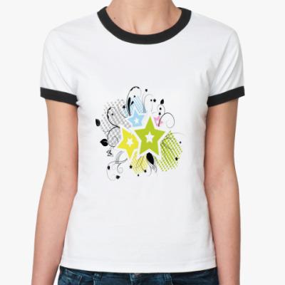 Женская футболка Ringer-T ЗВЕЗДЫ