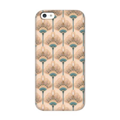 Чехол для iPhone 5c Песочные цветы