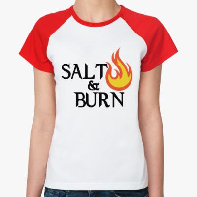 Женская футболка реглан Salt & Burn