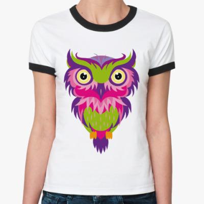 Женская футболка Ringer-T ФИЛИН