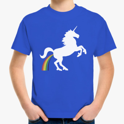 Детская футболка Единорог и радуга