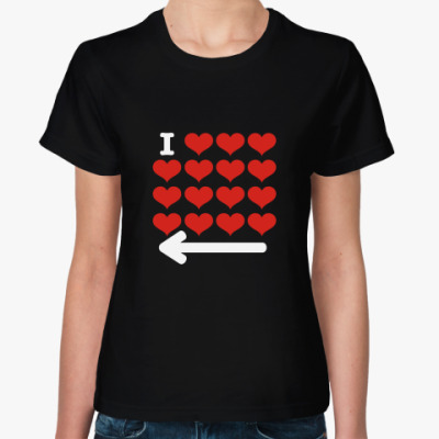 Женская футболка Тебе туда