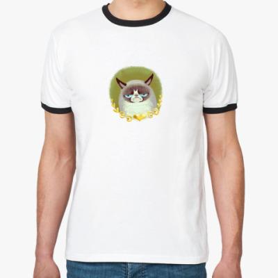 Футболка Ringer-T Grumpy Cat
