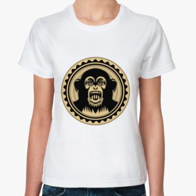 Классическая футболка Screaming monkey