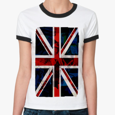 Женская футболка Ringer-T British flag