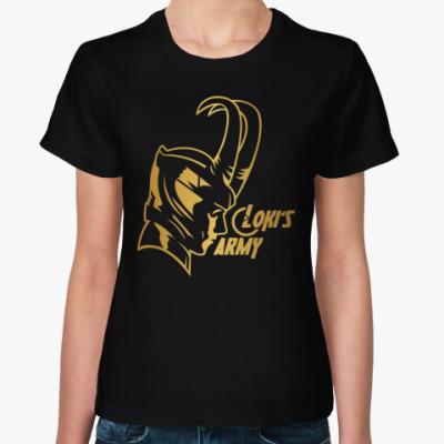 Женская футболка  Мстители Армия Локи