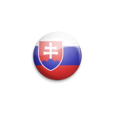 Значок 25мм Slovakia