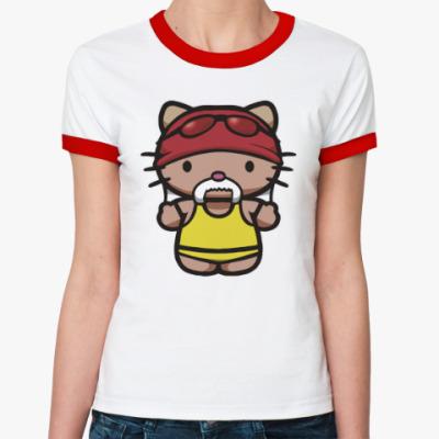 Женская футболка Ringer-T Китти Халк Хоган