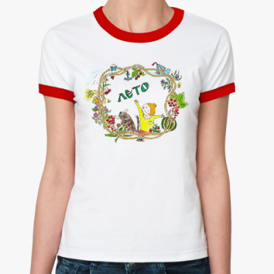 Женская футболка Ringer-T Weestory