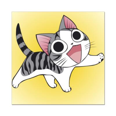 Наклейка (стикер)  с котиком