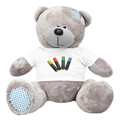 Плюшевый мишка Тедди маркеры