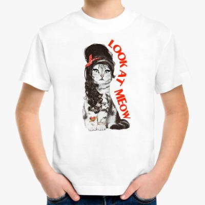 Детская футболка Кошка модница