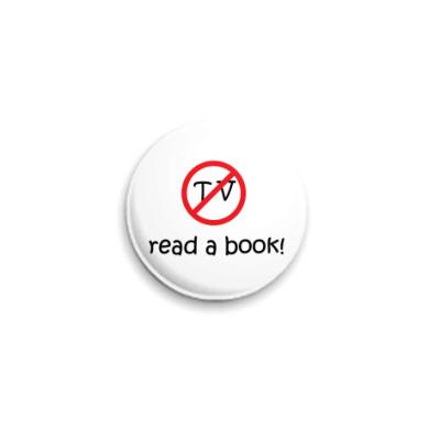 Значок 25мм  'Read a book'