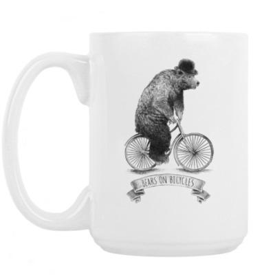 Кружка Медведь на велосипеде
