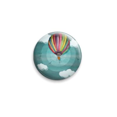 Значок 25мм  Воздушный шар