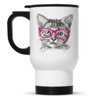 Кружка-термос Кот. Кошка. Cat. Kitty.