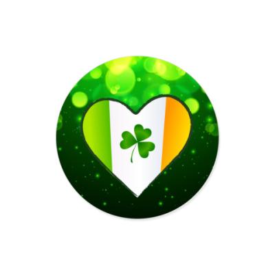 Виниловые наклейки Ирландское сердце