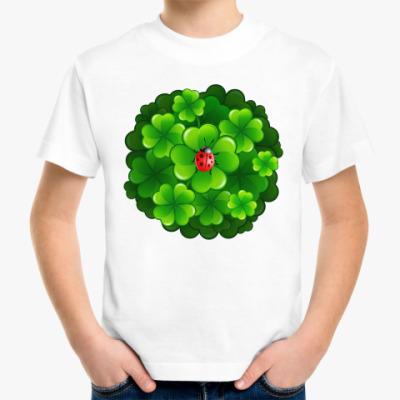 Детская футболка Клевер и коровка