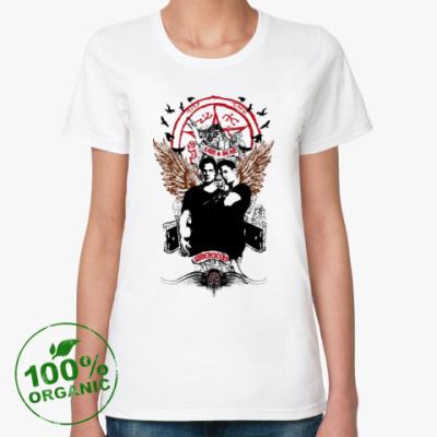 Женская футболка из органик-хлопка Сэм и Дин - Supernatural