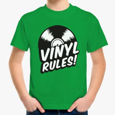 Детская футболка Винил рулит!