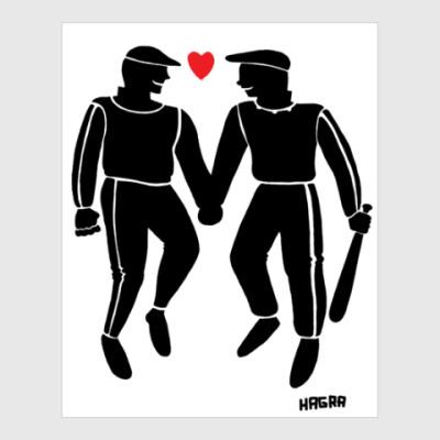 Постер Гопники-геи.