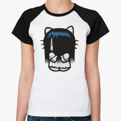 Женская футболка реглан Китти Звонок