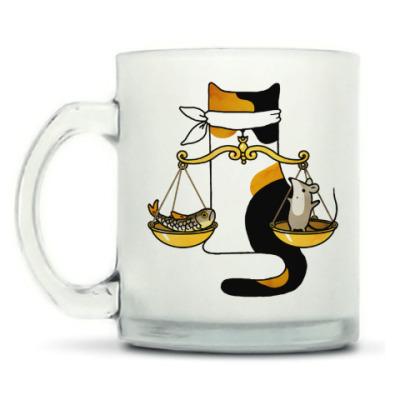 Кружка матовая Знак Зодиака Весы и кот