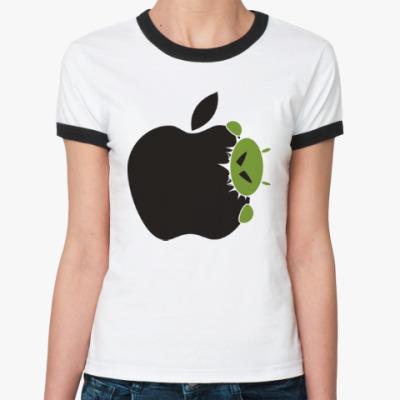 Женская футболка Ringer-T Голодный андроид