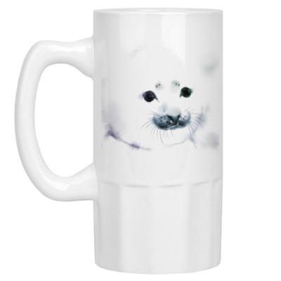 Пивная кружка Малыш тюлень