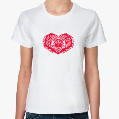 Классическая футболка экстремальное сердце