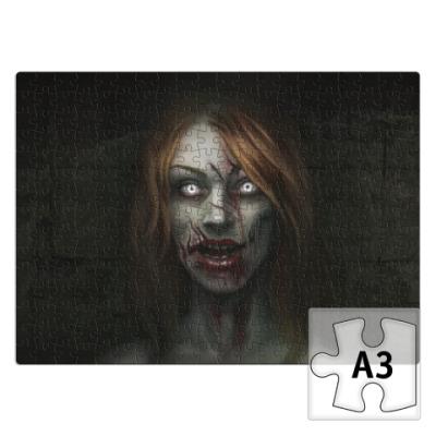 Пазл Зомби-девушка